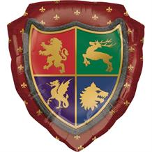 Medieval Thrones Shield Shaped Foil Helium Balloon