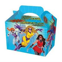 Miss | Girls Superhero Party Card Favour | Food Box