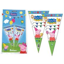 Peppa Pig Party Sweet Cones | Cello Loot Favour Bags