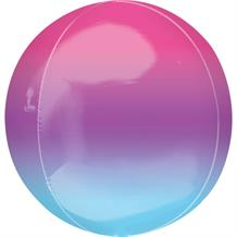 "Purple and Blue Ombre 15"" Sphere 