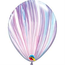 "Fashion Pastel Colours SuperAgate Marble 11"" Qualatex Latex Party Balloons"