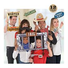 Cowboy Western Party Photo Props