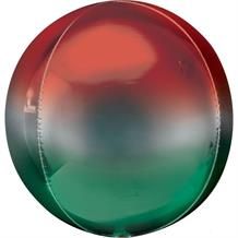 "Red and Green Ombre 15"" Sphere 