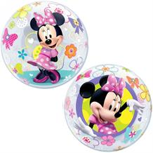 "Minnie Mouse Bow-Tique 22"" Qualatex Single Bubble Helium Quality Latex Party Balloon"