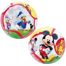 "Mickey Mouse & Friends 22"" Qualatex Single Bubble Helium Quality Latex Party Balloon"