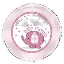 Pink Elephant Baby Shower Foil | Helium Balloon