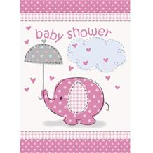 Pink Elephant Baby Shower Party Invitations | Invites