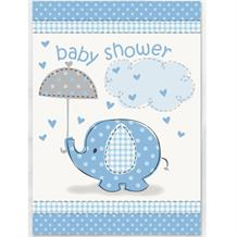 Blue Elephant Baby Shower Party Invitations | Invites