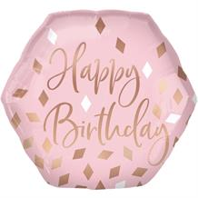 "Rose Gold Blush Pink Happy Birthday 23"" Foil 