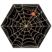 Spider Web | Halloween Hexagon Party Cake Plates