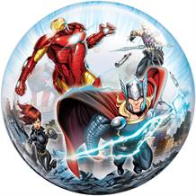 "Marvel Avengers 22"" Qualatex Single Bubble Helium Quality Latex Party Balloon"