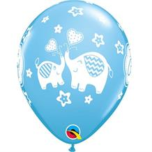 "It's a Boy Blue Elephant | Baby Shower 11"" Qualatex Latex Party Balloons"