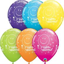 "Colourful Smiles Happy Retirement 11"" Qualatex Latex Party Balloons"