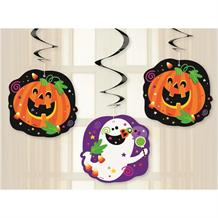 Happy Halloween Party Hanging Swirl Decorations