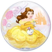 "Disney Princess Belle 22"" Qualatex Single Bubble Helium Quality Latex Party Balloon"