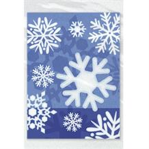 Winter Snowflake Christmas Party Cello Loot Favour Bags
