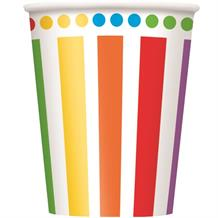 Rainbow Colourful Party Cups