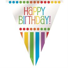 Rainbow Colourful Happy Birthday Flag Banner | Bunting | Decoration