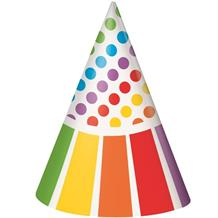 Rainbow Colourful Party Favour Hats