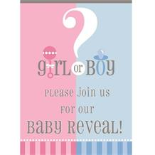 Gender Reveal Baby Shower Party Invitations | Invites