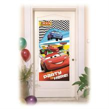 Disney Cars RSN Racing | Lightning McQueen The Party Is Here Door Banner