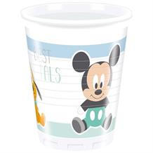 Mickey Mouse Baby Boy | Donald Duck Pluto 200ml Plastic Party Drink Cups
