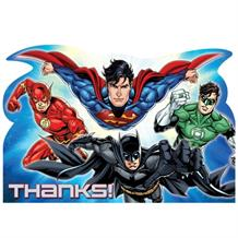 Justice League Party Thank You Cards