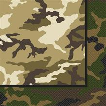 Military Camouflage Party Napkins | Serviettes
