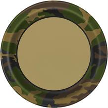 Military Camouflage Party Plates