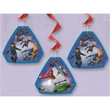 Thunderbirds Party Hanging Swirl Decorations