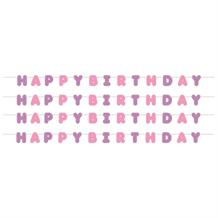 Ballerina Party Happy Birthday Paper Letter Banner