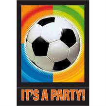 Championship Soccer | Football Party Black Invitations | Invites