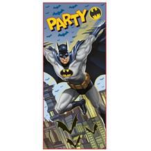 Batman Party Here Door Banner