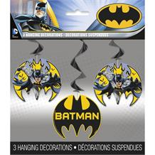 Batman Hero Party Hanging Swirl Decorations