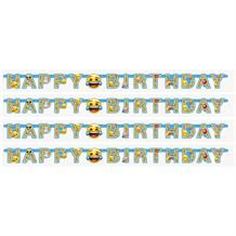 Emoji Icon Happy Birthday Paper Letter Banner