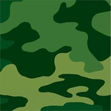 Army Camouflage Party Beverage Napkins | Serviettes