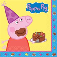 Peppa Pig Cake Party Napkins | Serviettes