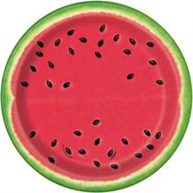 Summer Watermelon Party Cake Plates