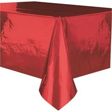 Red Foil Party Tablecover | Tablecloth
