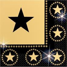 Hollywood Gold Stars Party Napkins | Serviettes