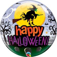 "Happy Halloween Witches 22"" Qualatex Bubble Party Balloon"