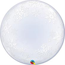 Snowflakes | Christmas Qualatex Deco Bubble Party Balloon