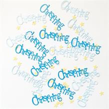 Blue Bunting Christening Party Table Confetti | Decoration