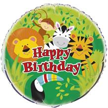"Animal Jungle Party 18"" Foil Helium Balloon"