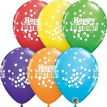 "Colourful Happy Birthday Confetti Dots 11"" Qualatex Latex Party Balloons"