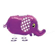 Pink Elephant Walking Shaped Giant Foil | Helium Balloon