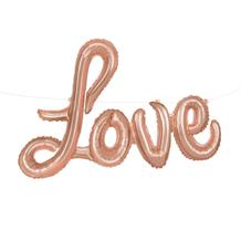 Rose Gold Love Letter Balloon Banner
