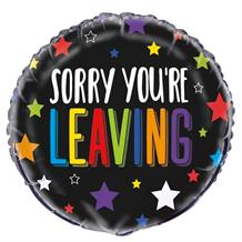 "Sorry You're Leaving Colourful Stars 18"" Foil 