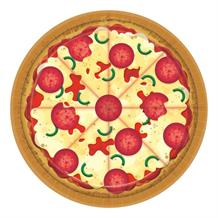 Pizza Party 18cm Cake Plates