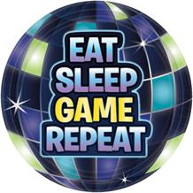 Battle Royal | Gaming Eat Sleep Game Repeat Party Cake | Dessert Plates 18cm